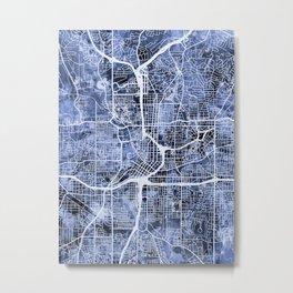 Atlanta Georgia City Map Metal Print