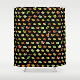 Caterpillar - dark Shower Curtain