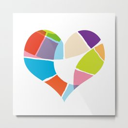 Heart Coloria Metal Print