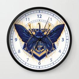 deadly skull beetle Wall Clock