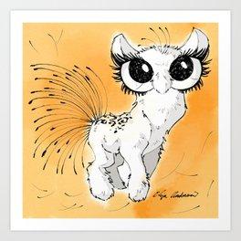 The Eyelash in Eyes Pet Peeve Art Print