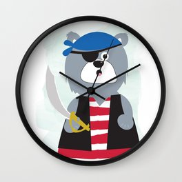 Pirate Bear Wall Clock