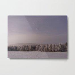 Snow and Stars Metal Print