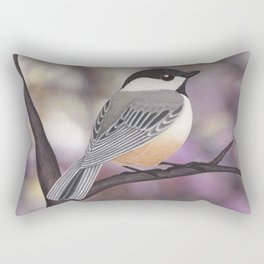 Sasha the black-capped chickadee Rectangular Pillow