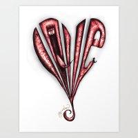 Frayed Heart Art Print