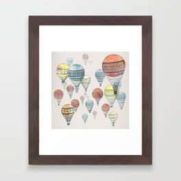 Voyages Hot Air Balloons Framed Art Print