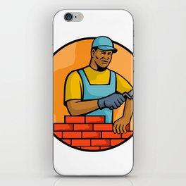 African American Bricklayer Mascot iPhone Skin