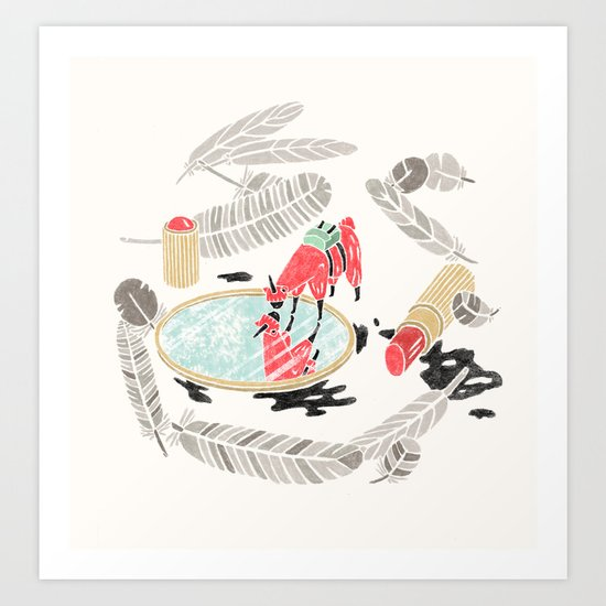 Pretty Miniunilamacorn Art Print