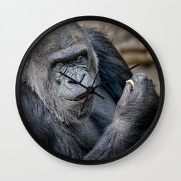 Silverback gorilla Wall Clock