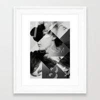 feminism Framed Art Prints featuring Handsome Feminism by Haus of Handsome