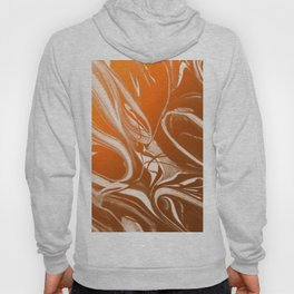 Copper Swirl - Copper, Bronze, gold and white metallic effect swirl pattern Hoody