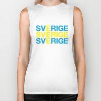 sweden Biker Tanks featuring SWEDEN by eyesblau