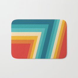 Colorful Retro Stripes  - 70s, 80s Abstract Design Bath Mat