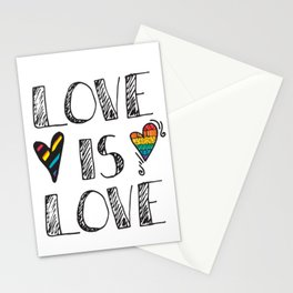 Love Is Love Doodles LGBT Stationery Cards