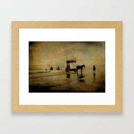 Bathing Framed Art Print