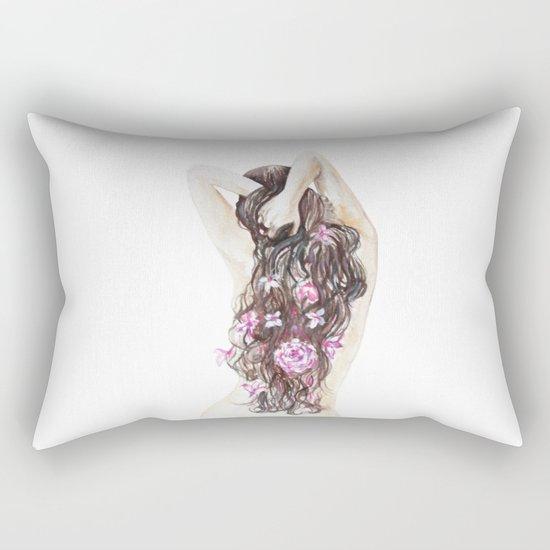 Spring girl Rectangular Pillow