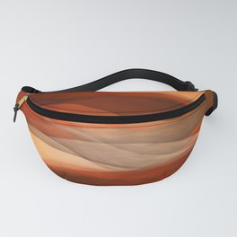 """Sea of sand and caramel waves"" Fanny Pack"