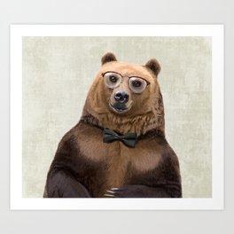 Mr Bear Art Print