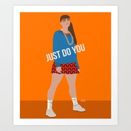 Just Do You Curvy Girl Drawing Art Print