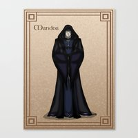 valar morghulis Canvas Prints featuring Mandos by wolfanita