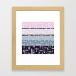 Dots and Stripes 4 Framed Art Print