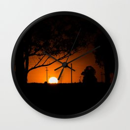 Pampas Sunset. Wall Clock