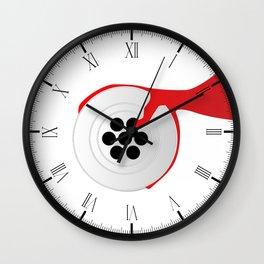 Plughole Blood Wall Clock