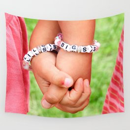 Big Sis & Lil Sis Holding Hands Wall Tapestry