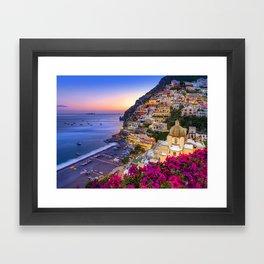 Positano Amalfi Coast Framed Art Print