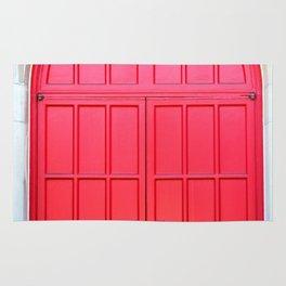Bright Red Doors Rug