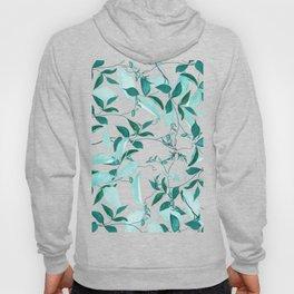 fresh green leaf pattern Hoody