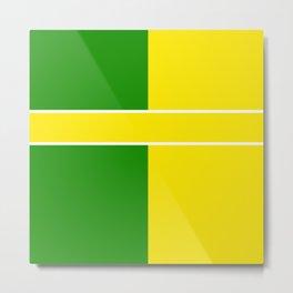 Team Colors 6...Yellow,green Metal Print