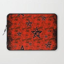 Red Toxic Stars Laptop Sleeve