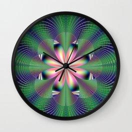 Fractal Floret Wall Clock