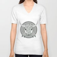 indian V-neck T-shirts featuring Indian  by Rotrapid