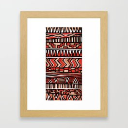 Aztec lino print Framed Art Print