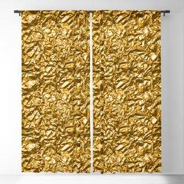 Golden noisy texture Blackout Curtain