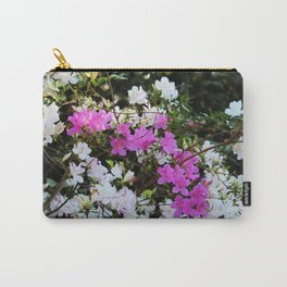 White And Pink Azaleas Carry-All Pouch