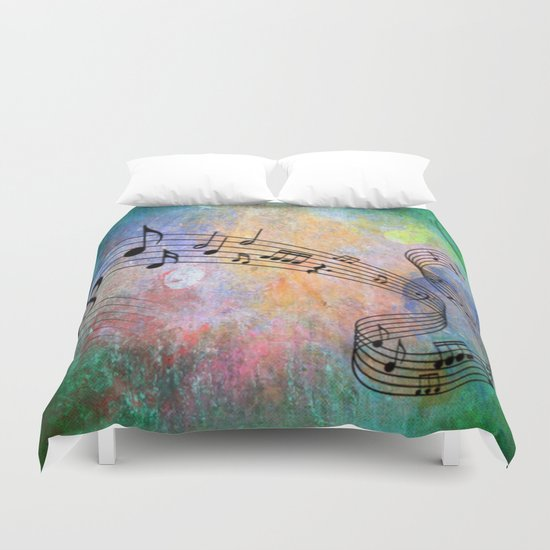 Abstract MUSIC Duvet Cover
