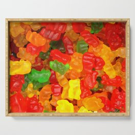 red orange yellow colorful gummy bear Serving Tray