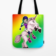 Roller Derby Unicorn Tote Bag