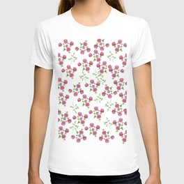 Watercolor roses on white backgroung T-shirt