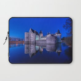 Sully sur Loire at night, Loire valley, France. Laptop Sleeve
