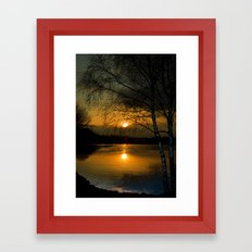 Lagoons Sunset Framed Art Print