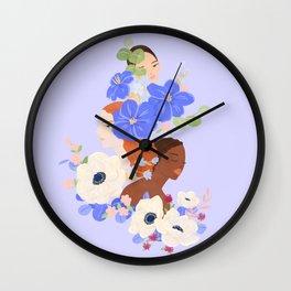 Flower Ladies Wall Clock