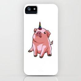 Pigicorn - Mixture Of Unicorn And Pig iPhone Case