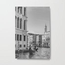 Black and White Venice Architecture Metal Print