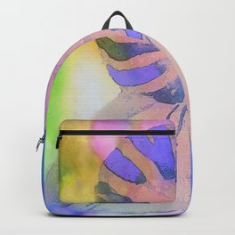 NAUTILUS SEA SHELL BLUE AND PURPLE IMPRESSIONS Backpack