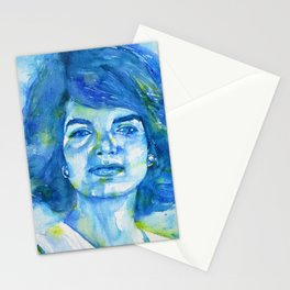 JACQUELINE KENNEDY ONASSIS watercolor portrait.1 Stationery Cards