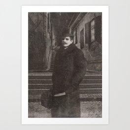 Dark Victorian Portrait: The Butcher of White Chapel Art Print
